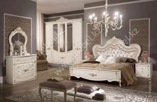 Адель спальня (белый) Остамебель