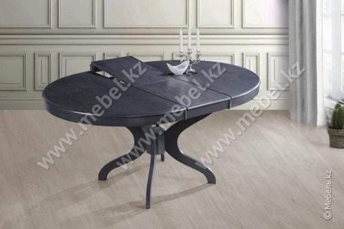 """Стол """"Харди"""" Ø 1200(+350)х750 (серый) Домини"""