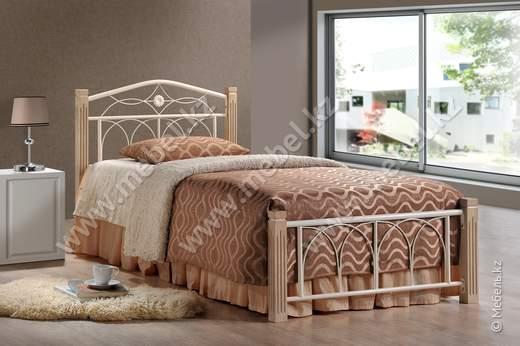 Миранда 900 Кровать (беж, черный) Домини