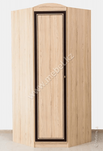 Дисней шкаф угловой 1Д, Дуб светлый, Мебель Сервис