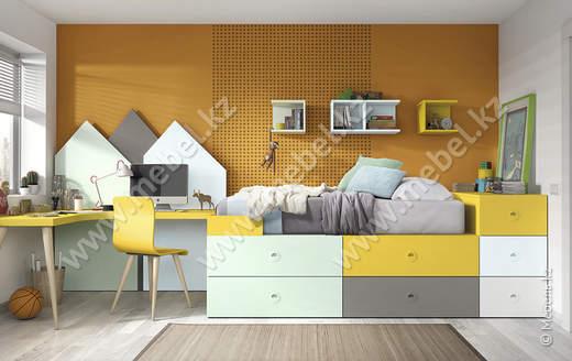 Комплект мебели для детской Kazzano P008