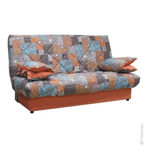 Матильда диван линейный (Patchwork orange  brown,Vital Caramel,Vital Ocean,Темпо 9) Комфорт-S