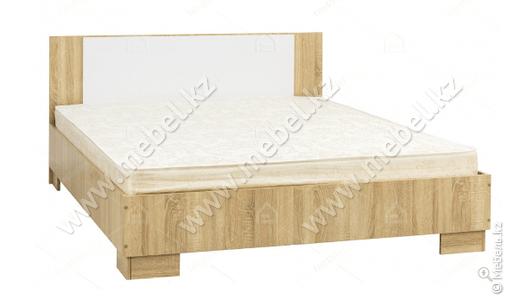 Лагуна 2, Кровать 1,6, Дуб сонома/Белый глянец, СВ Мебель