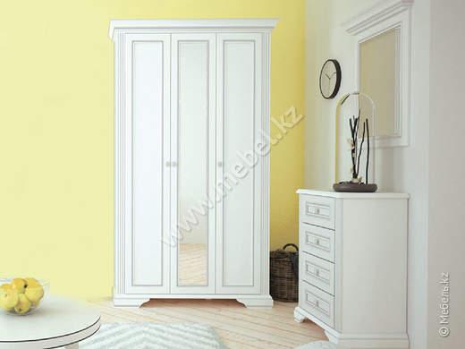 Вайт шкаф 3d(2s), Серебро/ясень снеж./золото ясень снежный