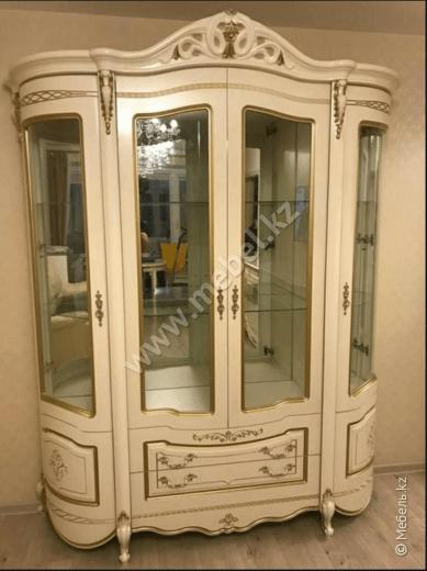 Аллегро витрина 4Д белый-золото (Слониммебель)
